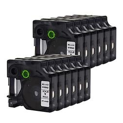 ANMO 12 Pack LM Tapes 45010 Compatible DYMO D1 45010 S072050