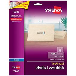 Avery Matte Frosted Clear Address Labels for Inkjet Printers