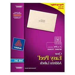 Avery Easy Peel Mailing Labels for Ink Jet Printers, 1 x 2-5