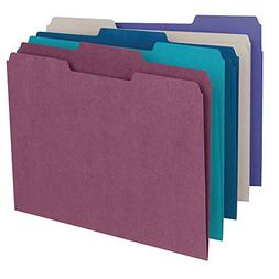 Smead File Folder, 1/3-Cut Tab, Letter Size, Assorted Colors
