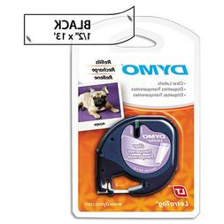 Genuine DYMO Black on Clear Polyester LetraTAG Tape Label fo