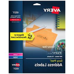 Avery Glossy Crystal Clear Address Labels for Laser & Inkjet