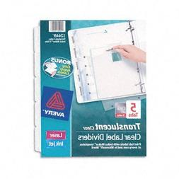 Avery® Index Maker® Clear Label Punched Translucent Divide