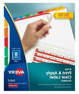 Avery Index Maker White Dividers, 8-Tab, Laser/Inkjet, Lette