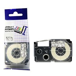 LM Tapes - Casio KL-120 12mm Black on Clear Compatible Label