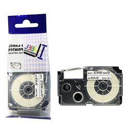 LM Tapes - Casio KL-100 12mm Black on White Compatible Label
