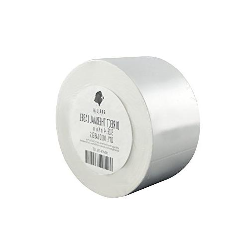 1000 direct thermal label perforated