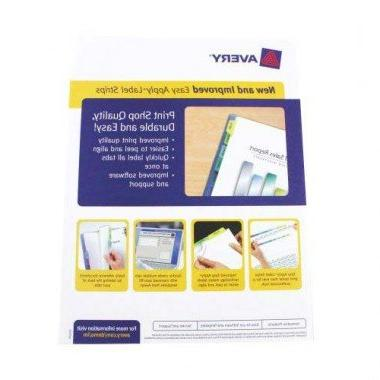 Avery Index Maker Clear Dividers Sets
