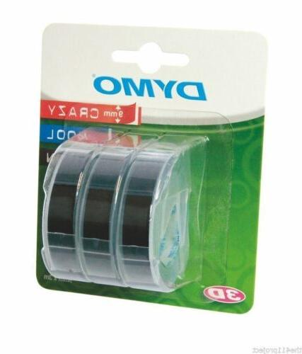 Dymo Tape 0.38 Width x - Rectangle - Vinyl 3 Pack