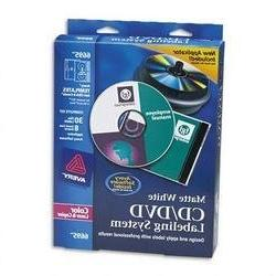 Avery 6695 CD/DVD Design Kit  30 Labels & 8 Inserts for Colo