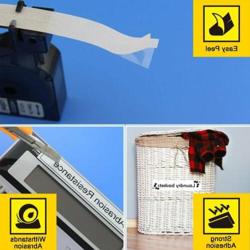 6PCS Print on White Compatible Tape Label Makers