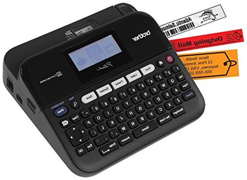 Brother PTD450, PC-Connectable Label Maker, Tapes, 7 Keys,