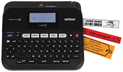 Brother P-touch, PTD450, PC-Connectable Label Maker, Split-B