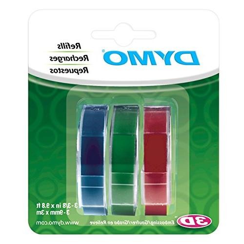DYMO Red, Green and Blue, 3/8-Inch