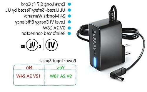 Pwr Power Adapter for Brother Label Makers Listed with 6.7 Extra Long AD24ES AD24ESA PT-1280 PT-2730