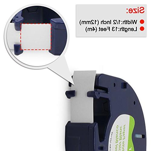 3-Pack Replace Labeling Refills Tape Compatible LetraTag Print 1/2 Inch
