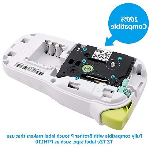 P TZe 12mm 0.47 Inch Tape TZ231 Brother P Touch Label Maker PT-D600, 0.47 Inch 26.2 ,