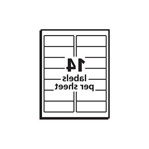 """Avery Matte Clear Address Labels for Printers, 1-1/3"""" 140 Labels"""