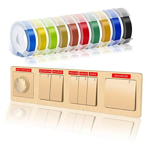 Embossing Printer Label Compatible with Maker, x Colorful 3D Plastic Xpress II Label Makers