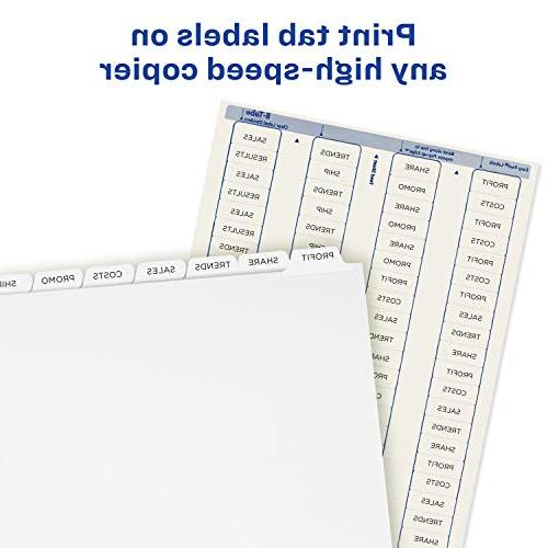 Easy Peel Labels for Copiers, Index White 5 Sets