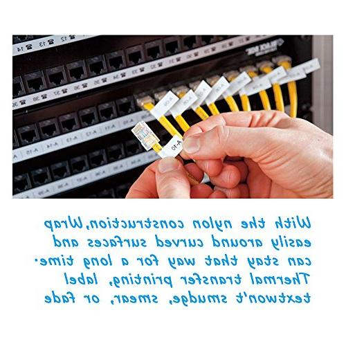 Compatible Industrial with LabelWriter Industrial Label Makers Rhino 5200 5000 More,Black on