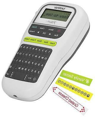 Label Maker Keyboard One-Touch Keys Portable Home White