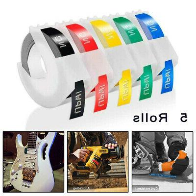 5-Roll 9mm Label Maker Self Adhesive Embossing 3D Tape For D