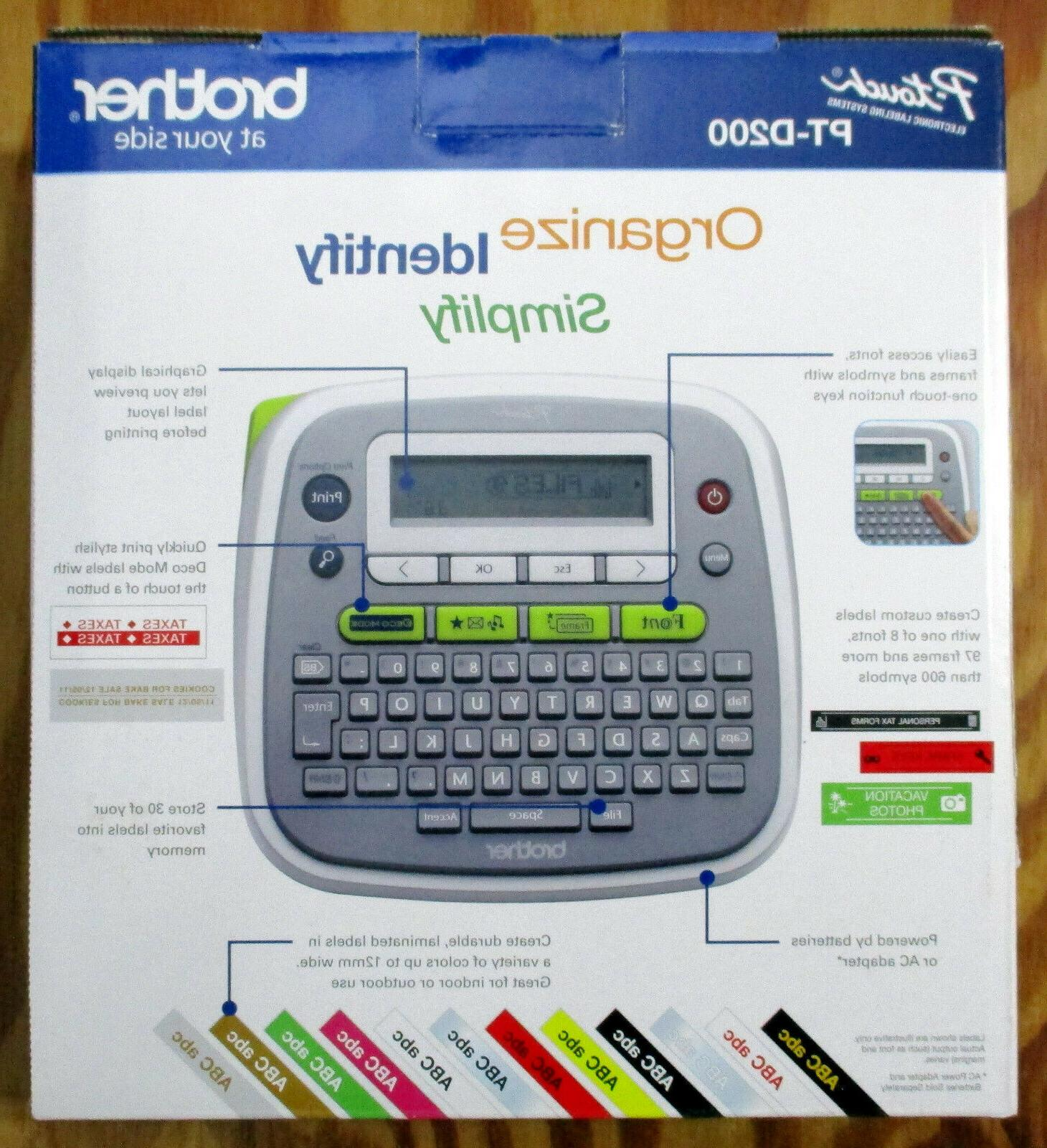 Brother Labeler P-touch PT-D200 Label Maker Thermal For &
