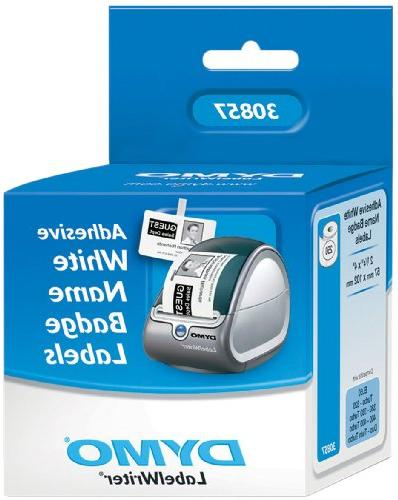 DYMO 30857 LW Badge Rolls, Use LabelWriter and Desktop Printers, on 250 per Roll, Pack of 1