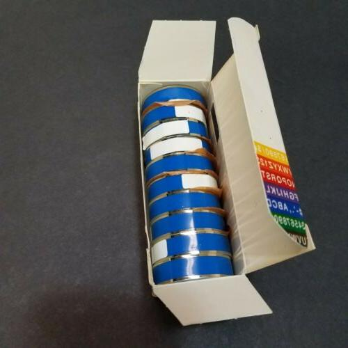NEW Blue Self For Label Makers Strip