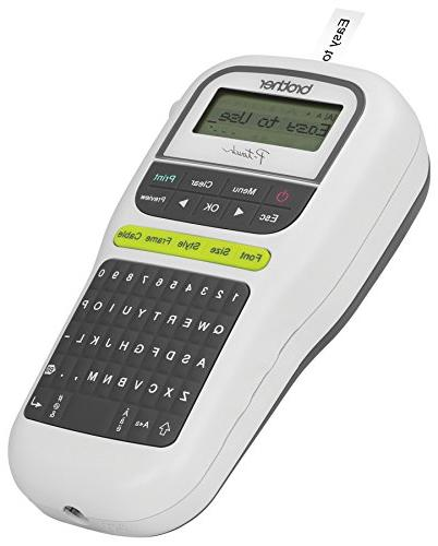 Brother P-touch, Portable QWERTY Keyboard, One-Touch White