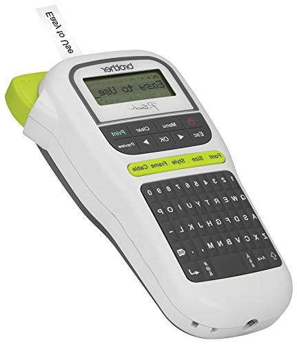 Brother Easy Portable Label Maker, Lightweight, QWERTY Keyboard, One-Touch Keys, White