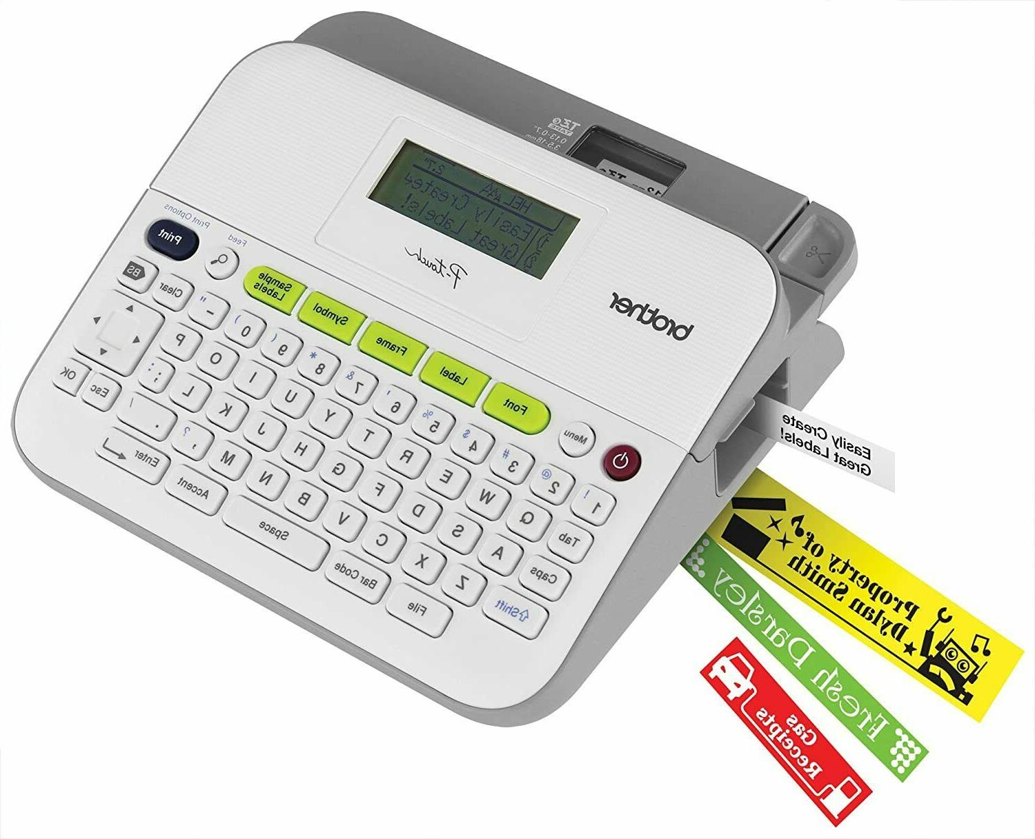 NEW Brother Versatile Easy-to-Use Label Maker Transfer PT-D400AD