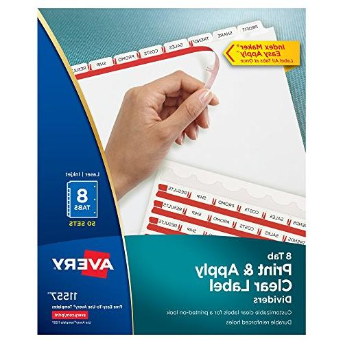 print apply clear label dividers