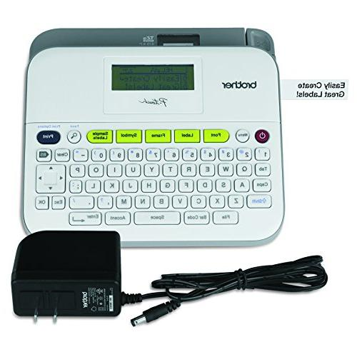 Brother P-touch Label Versatile AC Keyboard, Multiple Labeling, White