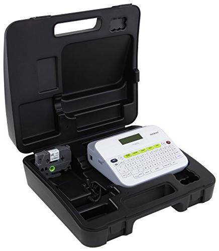 Brother Label Maker with Case and Design, Keyboard, Display,