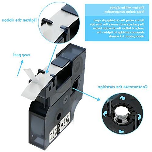 Refill D1 Labels Inch Feet Tape Compatible LabelManager 260P 210D 280 420 Label