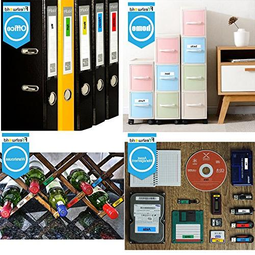Refill Replace Dymo Labels S0720530,1/2 Inch Feet L,Black on Tape Compatible LabelManager 280 160 450D Label Pack