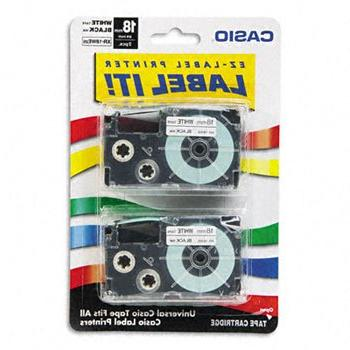 Casio Tape KL x on White, 2/Pack