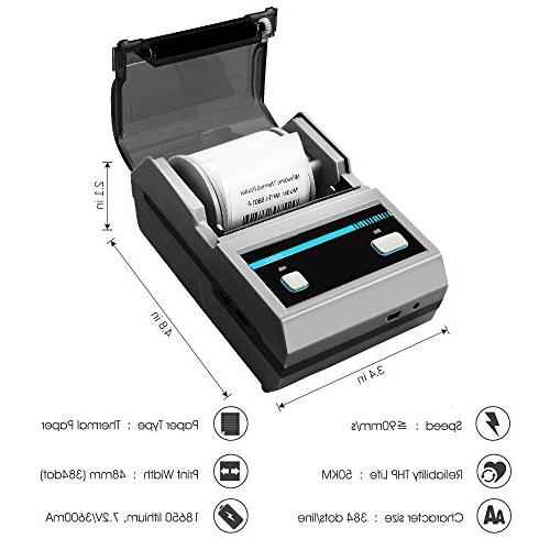 Thermal Label Bluetooth Printer with Battery for Labels