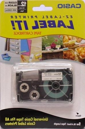 universal label tape ink clear