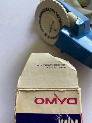 Dymo Vintage Labelmaker Kit Products Co. SHIPPING
