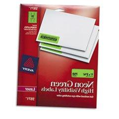 ** High-Visibility Laser Labels, 1 x 2-5/8, Neon Green, 750/