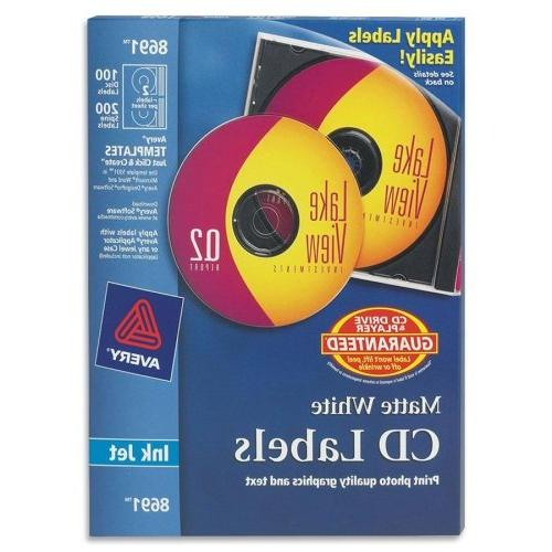 50 Sheets Avery Cd/Dvd For Printers 2-Up