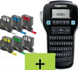 DYMO LABEL MANAGER 160 + 6 AFTER MARKET COLORED TAPES