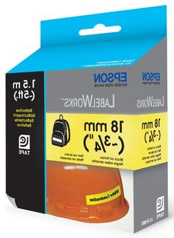 Epson LC-5YBR1 LabelWorks 3/4-Inch Black on Yellow Ink Refle