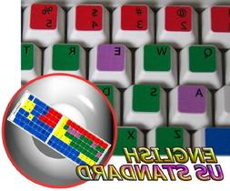 LEARNING ENGLISH US COLORED PC KEYBOARD STICKER FOR DESKTOP,