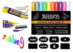 Liquid Chalk Makers Set - Neon colors with Silver and Gold M