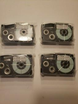 Lot of 4 x 18mm Casio Label It tape cassette for KL label ma