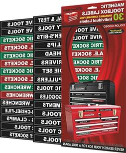Magnetic Tool Box Chest Labels Garage Tools Storage Organize